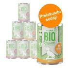 Mešano poskusno pakiranje: zooplus Bio hrana za mačke 6 x 400 g