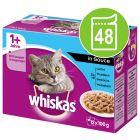 Mega pakiranje Whiskas 1+ Adult vrečke 48 x 85 g / 100 g