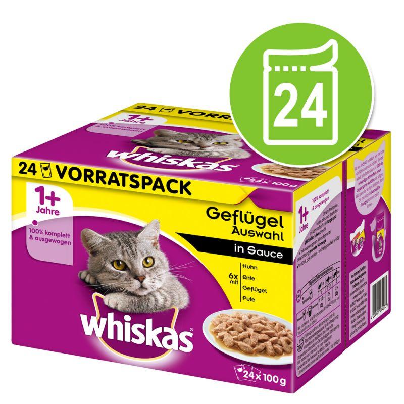 Mega pakiranje Whiskas 1+ Adult vrečke 24 x 85 g / 100 g