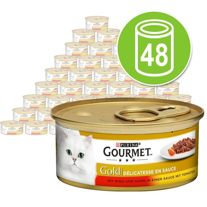 Megapachet Gourmet Gold Délicatesse în sos 48 x 85 g