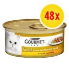 Megapack Gourmet Gold Bocaditos en Salsa 48 x 85 g
