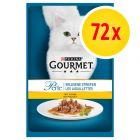 Megapack Gourmet Perle en sobres para gatos 72 x 85 g