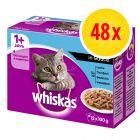 Megapack Whiskas 1+ Adult Frischebeutel 48 x 100 g