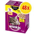 Megapack Whiskas 1+ años Creamy Soups 48 x 85 g en bolsitas