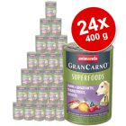 Megapakiet Animonda GranCarno Adult Superfoods, 24 x 400 g
