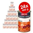 Megapakiet Animonda GranCarno Original Junior, 24 x 400 g