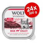Megapakiet Wolf of Wilderness Adult, 24 x 300 g