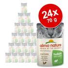 Megapakiet Almo Nature Holistic Anti Hairball, 24 x 70 g