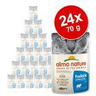 Megapakiet Almo Nature Holistic Sterilised, 24 x 70 g