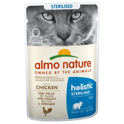 Megapakiet Almo Nature Holistic Sterilised, 24 x 70 g