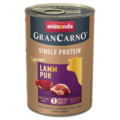 Megapakiet Animonda GranCarno Adult Single Protein Supreme, 24 x 400 g