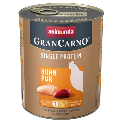 Megapakiet Animonda GranCarno Adult Single Protein, 24 x 800 g