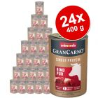 Megapakiet Animonda GranCarno Adult Single Protein, 24 x 400 g