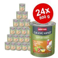 Megapakiet Animonda GranCarno Adult Superfoods, 24 x 800 g