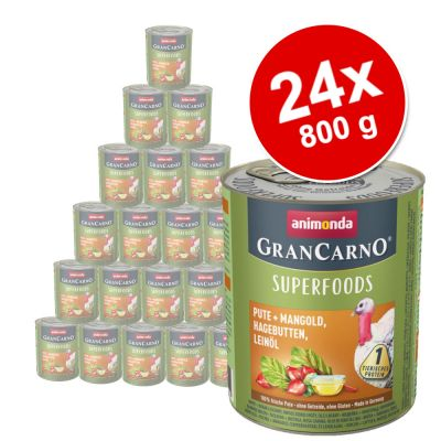 Megapakiet Animonda GranCarno Adult Superfoods, 24 x 800 g