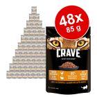 Megapakiet Crave, karma mokra dla kota, saszetki, 48 x 85 g