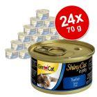 Megapakiet GimCat ShinyCat w galarecie, 24 x 70 g