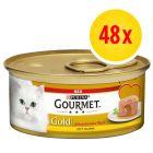 Megapakiet Gourmet Gold z nadzieniem, 48 x 85 g