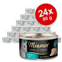 Megapakiet Miamor Feine Filets Naturelle, 24 x 80 g