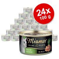 Megapakiet Miamor Feine Filets w puszkach, 24 x 100 g