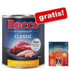 Megapakiet Rocco Classic, 24 x 800 g + Rocco Chings Originals, filet z kurczaka, 250 g gratis!