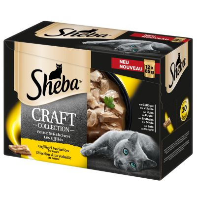 Megapakiet Sheba Craft Collection, 48 x 85 g
