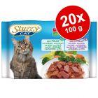 Megapakiet Stuzzy Cat w saszetkach, 20 x 100 g
