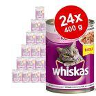 Megapakiet Whiskas Adult, puszki, 24 x 400 g