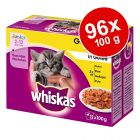 Megapakiet Whiskas Junior w saszetkach, 96 x 100 g