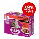 Megapakiet Whiskas 1+ saszetki, 48 x 85 g/100 g