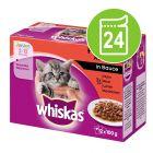 Megapakke Whiskas Junior 24 x 100 g Porsjonsposer