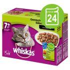 Megapakke Whiskas 7+ Senior 24 x 100 g Porsjonsposer