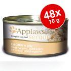 Mega-Sparpaket: Applaws Katzenfutter Senior in Jelly 48 x 70 g
