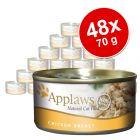 Mega-Sparpaket: 48 x 70 g Applaws Katzenfutter