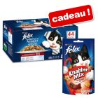 Mégapack Felix Tendres Effilés en gelée 44 x 100 g + Felix Party Mix en cadeau !