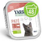 Mégapack de barquettes Yarrah Bio 48 x 100 g pour chat
