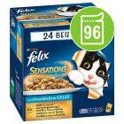 Mégapack Felix Sensations gelée 96 x 100 g pour chat
