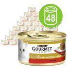 Mégapack Gourmet Gold Recettes raffinées 48 x 85 g pour chat