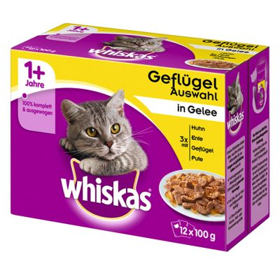 Mégapack Whiskas 96 x 100 g + friandises Catisfactions offertes !