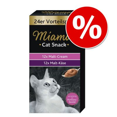 Miamor Cat Snack crema de malta y malta con queso - Pack mixto