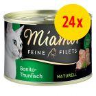 Miamor Feine Filets Naturelle 24 x 156 g
