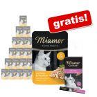 Miamor Feine Filets w saszetkach, 24 x 100 g + Miamor Cat Snack pasta ze słodem, 6 x 15 g gratis!