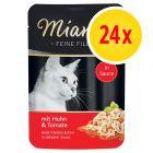 Miamor Fine Filets in Sauce -säästöpakkaus 24 x 100 g