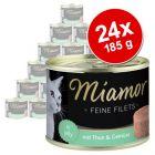 Miamor Fine Filets -säästöpakkaus 24 x 185 g