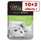 Miamor Ragoût Royal, lot mixte 10 x 100 g + 2 offerts !