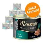Miamor, крехки филета в желе - пробен пакет 12 x 185 г