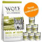 Miešané balenie Wolf of Wilderness granuly a konzervy