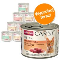 Mieszany pakiet Animonda Carny Kitten, 12 x 200 g