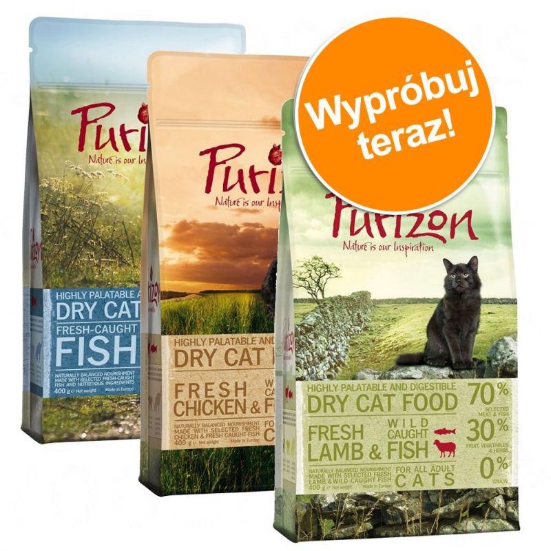 Mieszany pakiet próbny Purizon Adult dla kota, 3 x 400 g