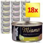 Mieszany zestaw Miamor Feine Filets Naturelle, 18 x 80 g